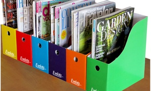 Evelots S/6 Magazine or File Holders (6-Pack)