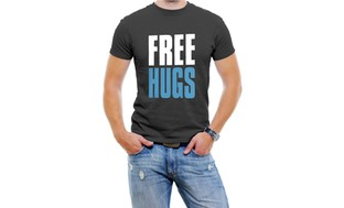 Free Hugs Men T-Shirt Soft Cotton Short Sleeve Tee