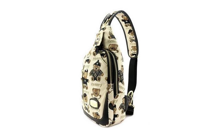 Women's Henney Bear Sling Backpack H060
