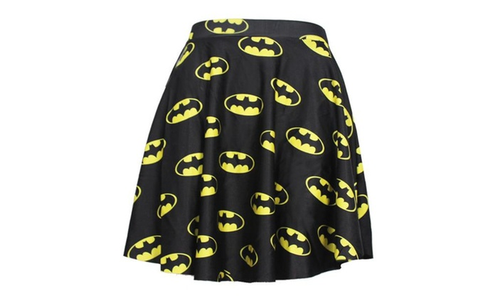 Women's Batman 3D Digital Printing Skirt One Size