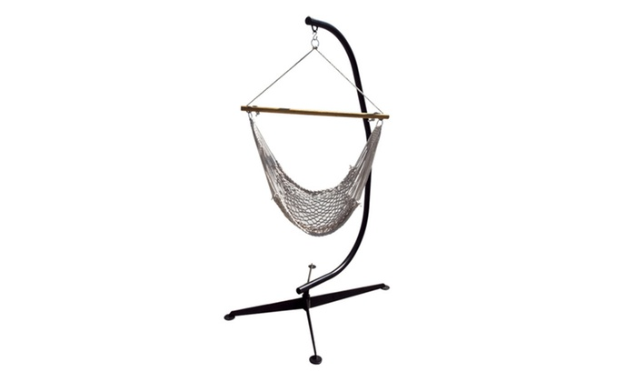 Apontus C Frame Hammock Stand And Rope Chair Groupon