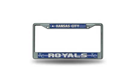 Rico Industries Kansas City Royals MLB Bling Glitter License Plate b7750239-ac14-46a7-8262-42ba69695e10
