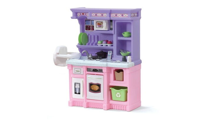 purple little bakers kitchen playset toddlers kids step2 pink groupon rh groupon com best kitchen playset for toddlers kitchen playset for kid