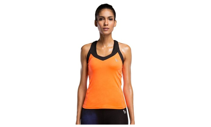 Women Sexy Performance Yoga Athletic Sleeveless Tank Top