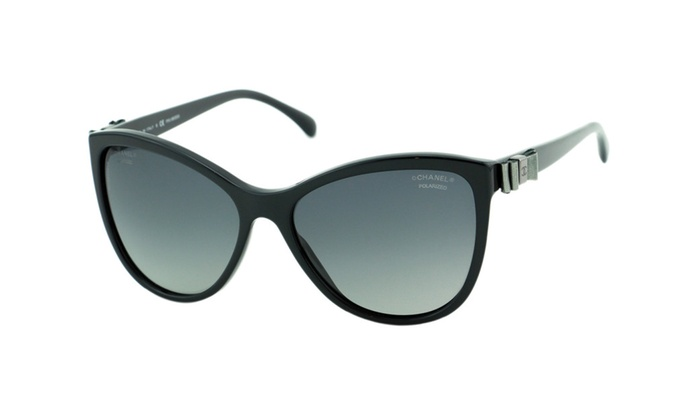 New Polarized CHANEL 5281Q Black Cat Eye Butterfly Charms Sunglasses ...