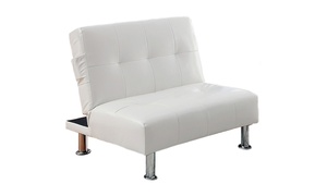 Bulle Chair in White Leatherette