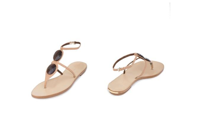 Authentic Giorgio Armani Genuine Leather Italian Designer Sandals
