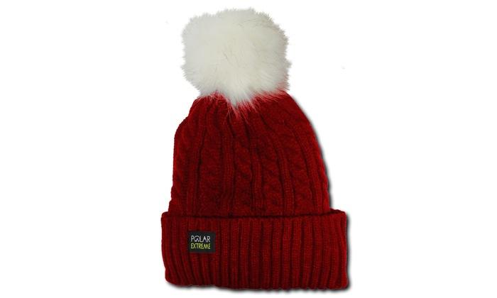 54e1b0f45c0 ... POM-POM Knit Slouchy Baggy Beanie Oversize Winter Women s Hat