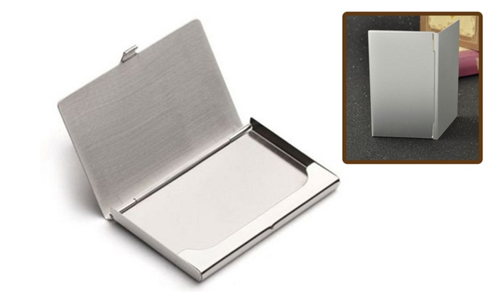Credit Card Holder Stainless Steel Pocket Can Be Used As a Mirror