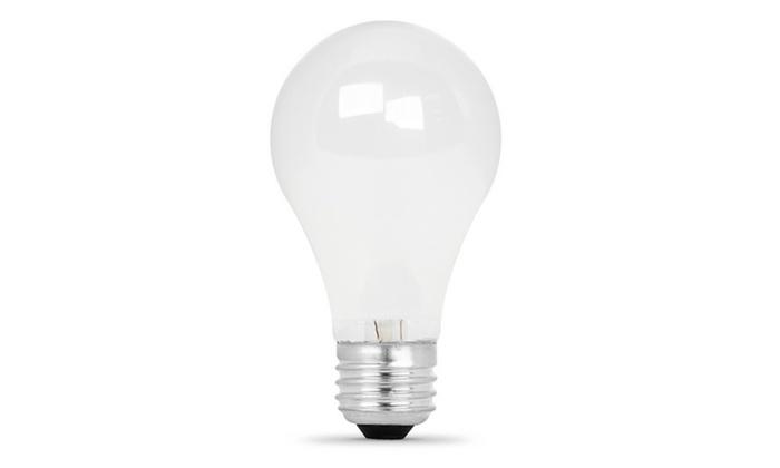 Bulb Hal 43w A19 4pk