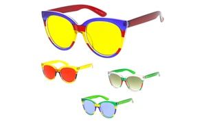 "Urban Modern ""Kenya"" Plastic Frame Sunglasses"
