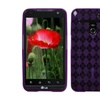 Insten Purple Argyle Candy Skin Case for LG VS910, Revolution, Esteem