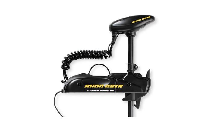 Minn kota powerdrive v2 55pd 12v 55 lb 48 bow mount for Minn kota 40 lb thrust trolling motor