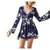 Women's Long Sleeve Casual Empire Waist Fashion Dresses