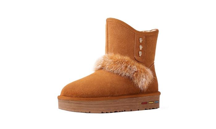 Chickle Women's Warm Fur Short Snow Boots