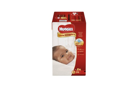HUGGIES Little Snugglers Baby Diapers, Size 1, 216 Count a1b9a63a-7c17-46fa-8179-8f472a1c3e23