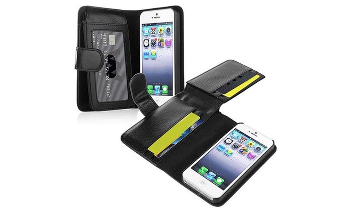 Insten Leather Case with Wallet For Apple iPhone 5 / 5s ...