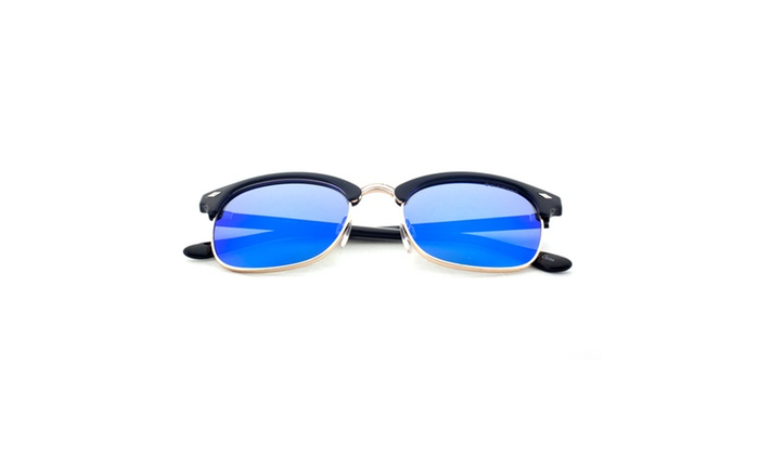 MLC EYEWEAR Urban Retro Half Frame Retro Square Polarized Sunglasses