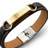 Cross Design PU Leather Man's Bracelet