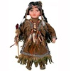 "Cherish Crafts 16"" Porcelain Native American Doll 'Ankti'"