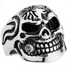 Stainless Steel Skull Ring with a bullet in mouth SSR94