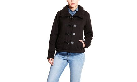 MADDEN GIRL Fleece Jacket with Sherpa Collar