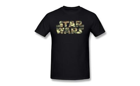 Yaoss Men's Tee Simplest Star War Logo Black Tshirts c1b8d75d-f533-479b-ad28-7f78b873dc19