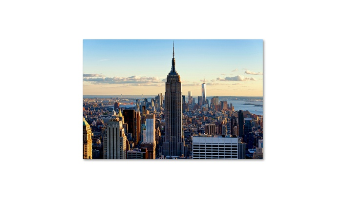 philippe hugonnard downtown at sunset nyc canvas art groupon