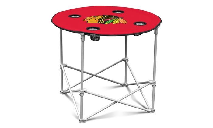 NHL Logo Portable Round Table