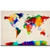 Michael Tompsett Sponge Painting World Map Canvas Print