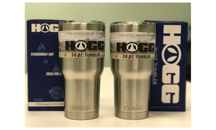 2 PACK HOGG 30oz Stainless Steel Tumblers