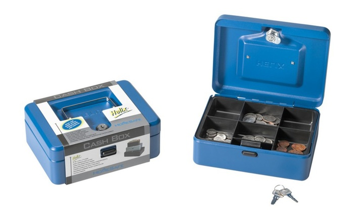 Cash Box W- Lock Blu