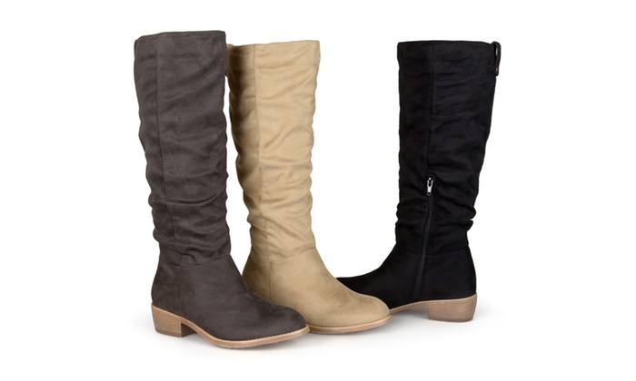 Journee Collection Womens Wide Calf Inside Pocket Boots