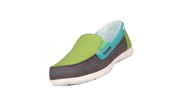 DPN Women's Canvas Slip-On Loafer Shoes Sneaker Canvas Flat