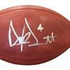 Autographed Dak Prescott Dallas Cowboys Authentic NFL Duke Wilson Foot