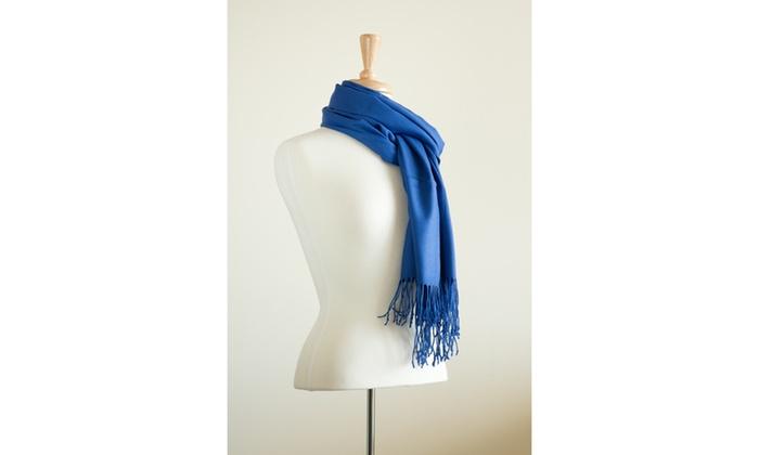 e152827bb Zermat Royal Blue poly-rayon blend pashmina Scarf | Groupon
