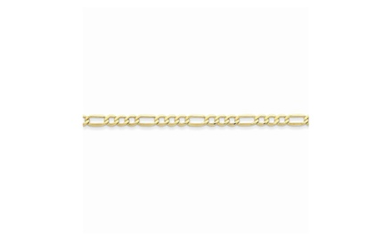 IceCarats Designer Jewelry 10k 4.75mm Semi-Solid Figaro Chain