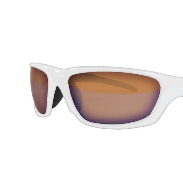 Amphibia Exodus White Frame with Amber Wave Lenses Sunglass
