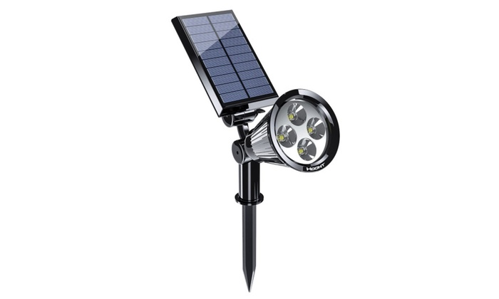 Hoont Outdoor Landscape Solar & Battery Powered LED Lighting Spotlight
