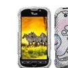 Insten Sunny Flower Diamante Phone Case for HTC: myTouch 4G