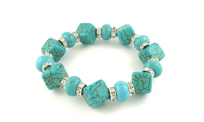 Up To 67 Off On Turquoise And Swarovski Eleme Groupon Goods