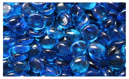 Aqua Blue Fireglass Fire Beads Fireplace Glass and Fire Pit Glass, 10-pound
