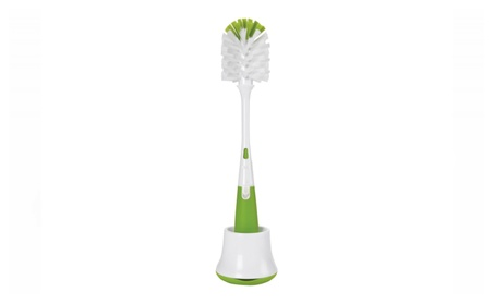 OXO Tot Bottle Brush with Nipple Cleaner and Stand, Green e31c9441-3285-4fd8-b34a-31e9bccec752