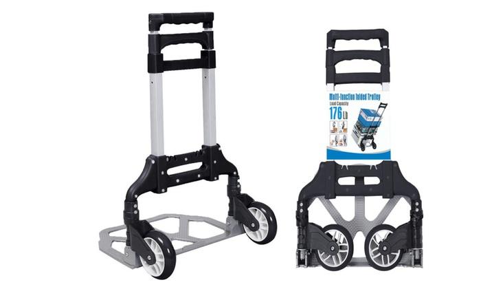 Heavy Duty Capacity Aluminum Folding Hand Truck Dolly Cart