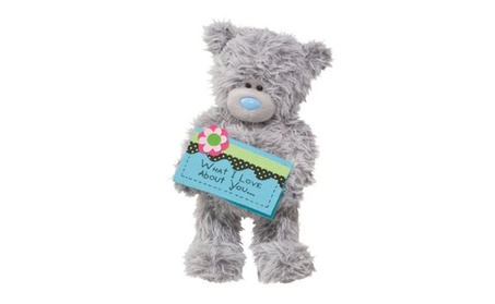 "Douglas Toys Plush 9"" Tatty Teddy What I Love About You Card Bear 90127520-af61-47c4-a4f8-de1fce48b4bc"