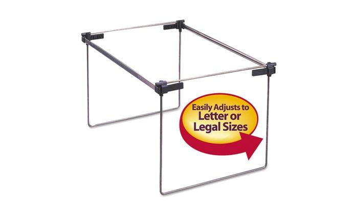 "Groupon Goods: Smead Hanging Folder Frame, 12-24"" Long, Steel, 2/Box"