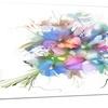 Summer Colorful Flowers Watercolor Metal Wall Art 28x12