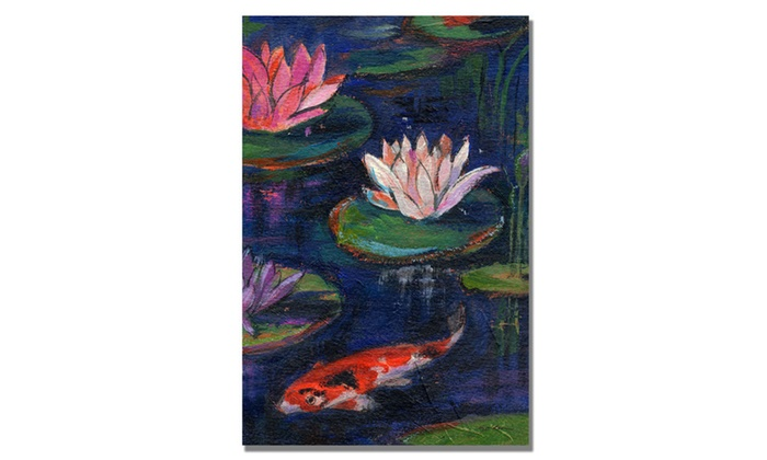 Sheila Golden The Lily Pond Canvas Art