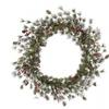 "30"" Snowy Monterey Pine Wreath w/Berries"