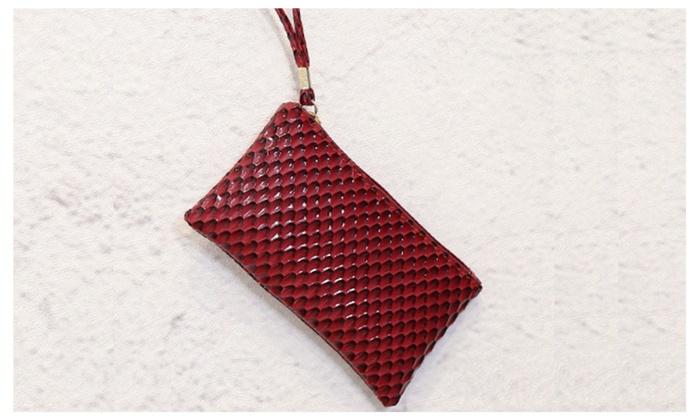 Cute Small PU Leather Red Wrist Bag/Hand Bag